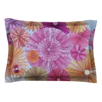 Blossoming by Heidi Jennings Featherweight Pillow Sham Size: Queen, Fabric: Cotton
