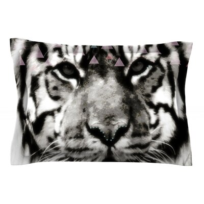 Tiger Face by Suzanne Carter Featherweight Pillow Sham Size: King, Fabric: Cotton