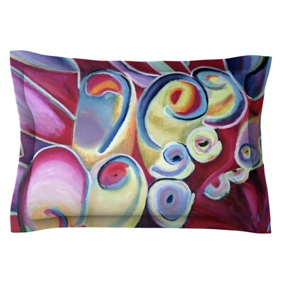 Groovy by Cathy Rodgers Featherweight Pillow Sham Size: Queen, Fabric: Cotton