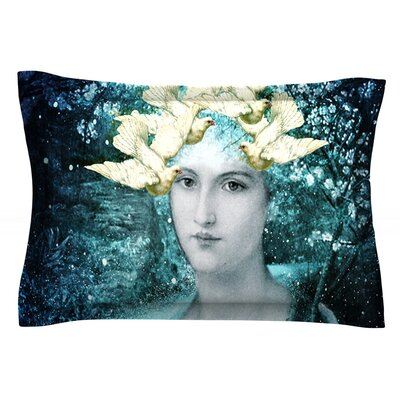 Adorned by Suzanne Carter Featherweight Pillow Sham Size: Queen, Fabric: Cotton