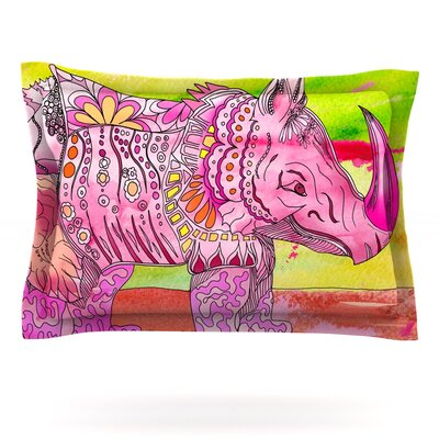 Pretty in Pink by Catherine Holcombe Featherweight Pillow Sham Size: Queen, Fabric: Cotton