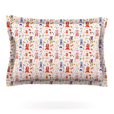 Miss Ruby by Holly Helgeson Featherweight Pillow Sham Size: Queen, Fabric: Cotton