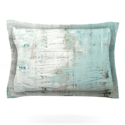 Bluish Green by Iris Lehnhardt Featherweight Pillow Sham Size: Queen