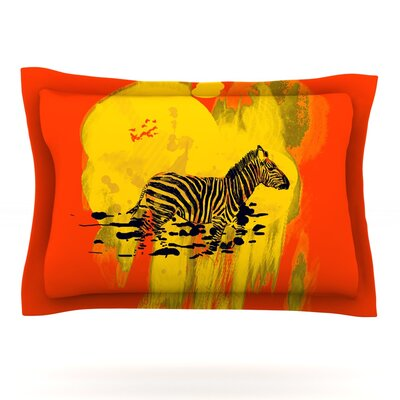 Watercolored by Frederic Levy-Hadida Featherweight Pillow Sham Size: King, Color: Red, Fabric: Woven Polyester