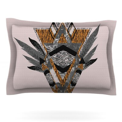 Indian Feather by Vasare Nar Featherweight Pillow Sham Size: Queen, Fabric: Cotton