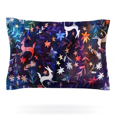 Watercolour Folk by Nikki Strange Featherweight Pillow Sham Size: Queen, Fabric: Cotton