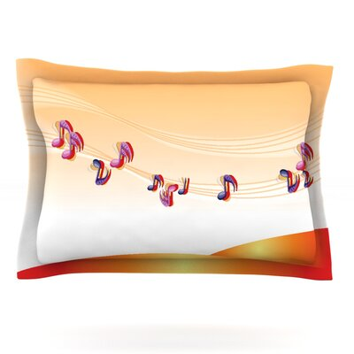 Nature Music by Fotios Pavlopoulos Featherweight Pillow Sham Size: King, Fabric: Cotton