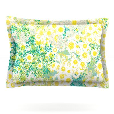 Myatts Meadow by Kathryn Pledger Featherweight Pillow Sham Size: King, Fabric: Cotton