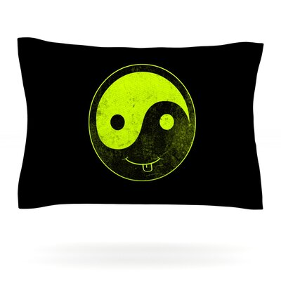 Bad Ass Ying Yang by Frederic Levy-Hadida Featherweight Pillow Sham Size: King