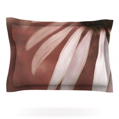Copper and Pale Pink by Iris Lehnhardt Featherweight Pillow Sham Size: King, Fabric: Cotton