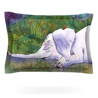 Ernies Dream by Catherine Holcombe Featherweight Pillow Sham Size: Queen, Fabric: Cotton