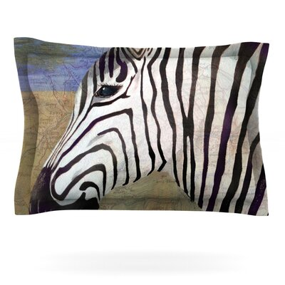 Zebransky by Catherine Holcombe Featherweight Pillow Sham Size: King, Fabric: Cotton