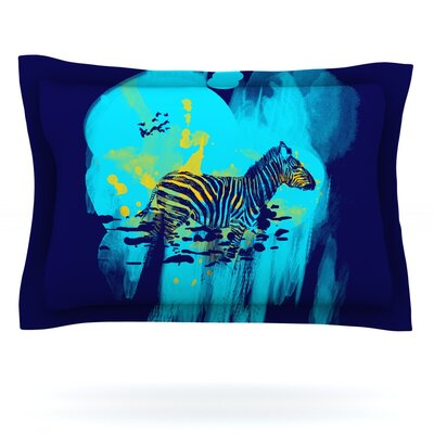 Watercolored by Frederic Levy-Hadida Featherweight Pillow Sham Size: Queen, Color: Blue, Fabric: Cotton