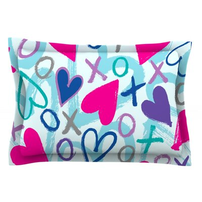 Hearts a Flutter by Emine Ortega Featherweight Pillow Sham Size: Queen, Fabric: Cotton