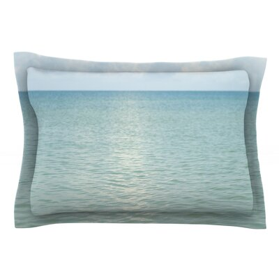 Cloud Reflection by Catherine McDonald Featherweight Pillow Sham Size: Queen, Fabric: Cotton