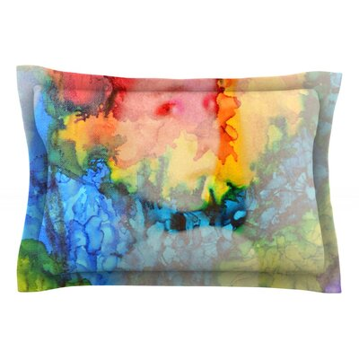 Clairefied by Claire Day Featherweight Pillow Sham Size: Queen, Fabric: Cotton