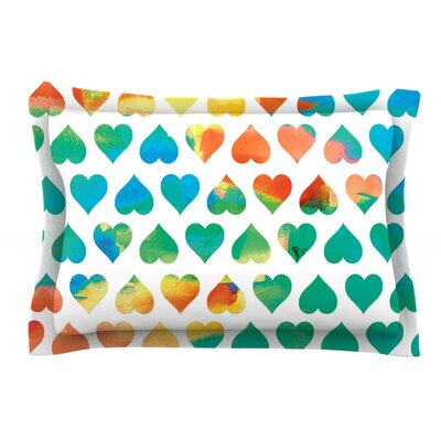 Be Mine by Budi Kwan Featherweight Pillow Sham Size: King, Fabric: Cotton