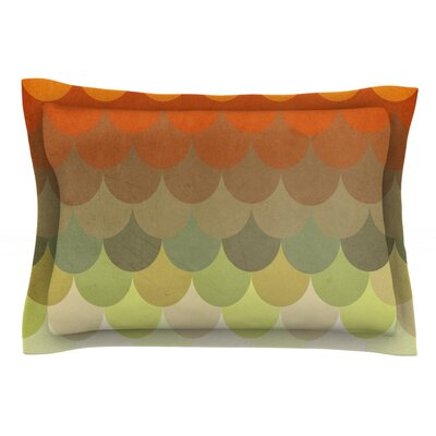 Half Circle Waves Color by Danny Ivan Featherweight Pillow Sham Size: Queen, Fabric: Cotton