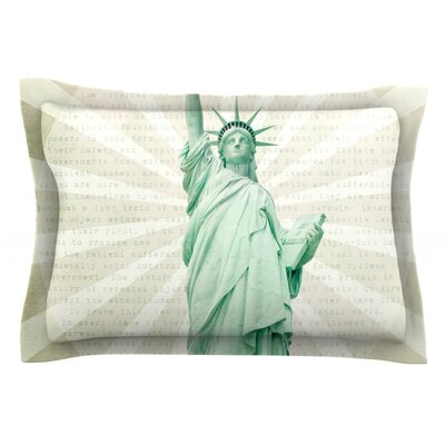 The Lady by Catherine McDonald Featherweight Pillow Sham Size: King, Fabric: Cotton