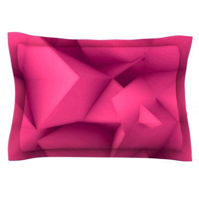 Purple Surface by Danny Ivan Featherweight Pillow Sham Size: King, Fabric: Cotton