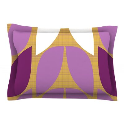 Orchid Petals by Pellerina Design Featherweight Pillow Sham Size: Queen, Fabric: Cotton