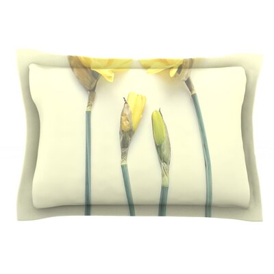 Springtime Yellow by Debbra Obertanec Featherweight Pillow Sham Size: King, Fabric: Cotton