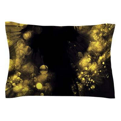 Moonlight Dandelion by Ingrid Beddoes Featherweight Pillow Sham Size: King, Fabric: Cotton