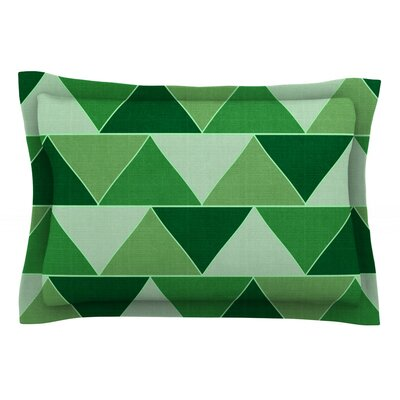 Emerald City by Catherine McDonald Featherweight Pillow Sham Size: Queen, Fabric: Cotton