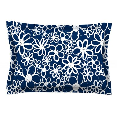 Daisy Lane by Emine Ortega Featherweight Pillow Sham Size: King, Fabric: Cotton
