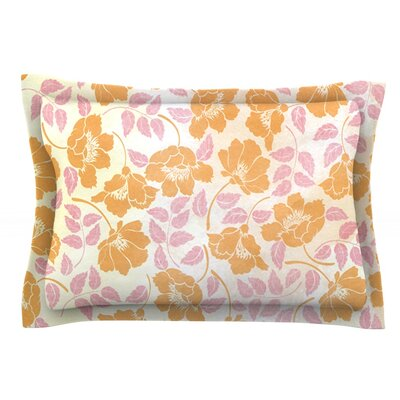 Sun Kissed Petals by Heidi Jennings Featherweight Pillow Sham Size: King, Fabric: Cotton