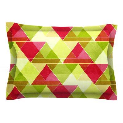 Palm Beach by Catherine McDonald Featherweight Pillow Sham Size: Queen, Fabric: Cotton