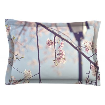 Walk with Me by Catherine McDonald Featherweight Pillow Sham Size: Queen, Fabric: Cotton
