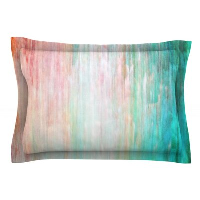 Color Wash by Iris Lehnhardt Featherweight Pillow Sham Size: Queen, Color: Blue