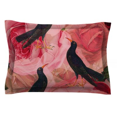 Song Bird Cush by Suzanne Carter Featherweight Pillow Sham Size: Queen, Fabric: Cotton
