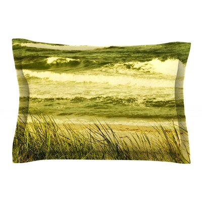 Dunes and Waves by Iris Lehnhardt Featherweight Pillow Sham Size: Queen, Fabric: Cotton