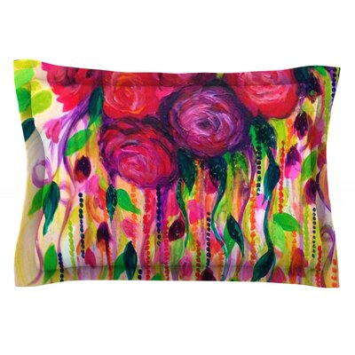Roses are Red by Ebi Emporium Featherweight Pillow Sham Size: Queen, Fabric: Cotton