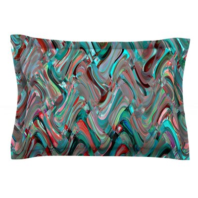 Abstract Wave by Suzanne Carter Featherweight Pillow Sham Size: Queen, Fabric: Cotton