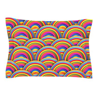 Rainbows by Danny Ivan Featherweight Pillow Sham Size: Queen, Fabric: Cotton