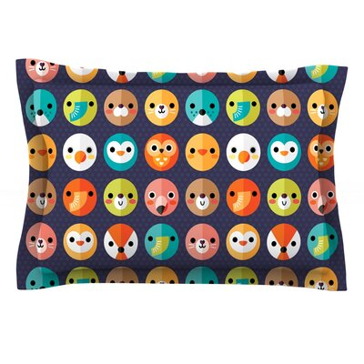 Smiley Faces Repeat by Daisy Beatrice Featherweight Pillow Sham Size: King, Fabric: Cotton