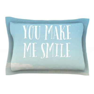 You Make Me Smile by Susannah Tucker Featherweight Pillow Sham Size: King, Fabric: Cotton
