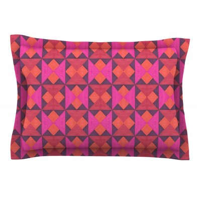 A Quilt Pattern by Empire Ruhl Featherweight Pillow Sham Size: King, Fabric: Cotton