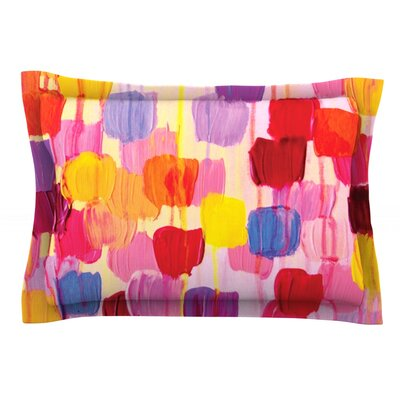 Dotty in Pink by Ebi Emporium Featherweight Pillow Sham Size: King, Fabric: Cotton