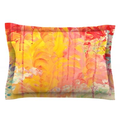 Sun Showers by Ebi Emporium Featherweight Pillow Sham Size: King, Fabric: Cotton