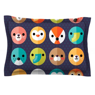 Smiley Faces by Daisy Beatrice Featherweight Pillow Sham Size: King, Fabric: Cotton