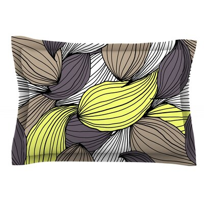 Wild Brush by Gabriela Fuente Featherweight Pillow Sham Size: King, Fabric: Cotton