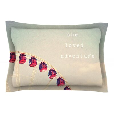 She Loved Adventure by Susannah Tucker Featherweight Pillow Sham Size: King