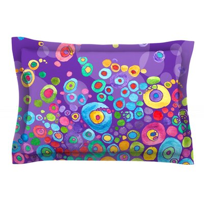 Inner Circle Purple by Catherine Holcombe Featherweight Pillow Sham Size: Queen