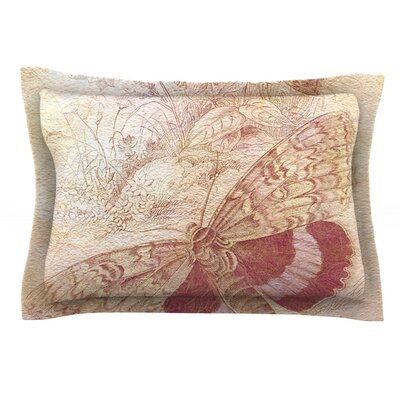 Vintage Garden by Suzanne Carter Featherweight Pillow Sham Size: King, Fabric: Cotton