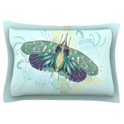 Blue Deco by Catherine Holcombe Featherweight Pillow Sham Size: Queen, Fabric: Cotton