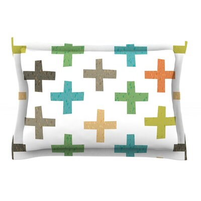 Hipster Crosses by Daisy Beatrice Featherweight Pillow Sham Size: Queen, Fabric: Cotton